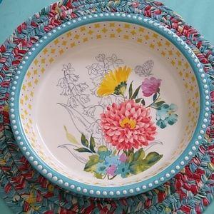 Pioneer Woman Blooming Bouquet pie plate